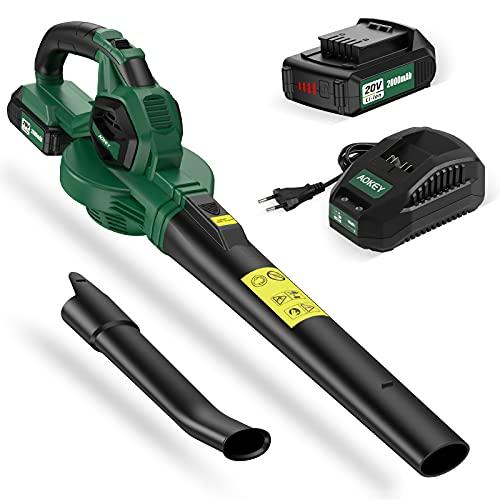 AOKEY Soplador de hojas, batería de 20 V, 150-210...