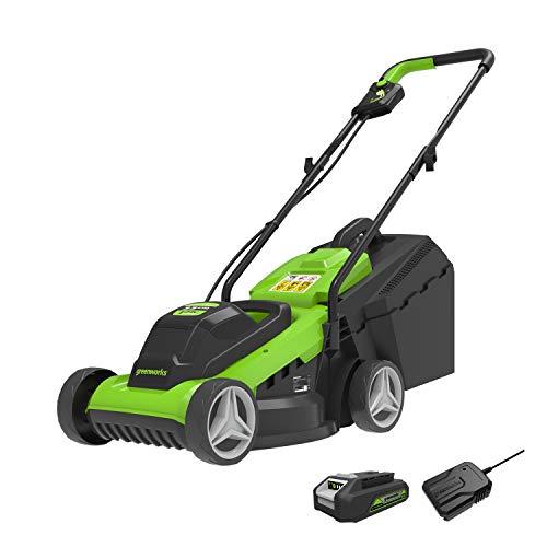 Greenworks Tools Cortacésped eléctrico de ion de...