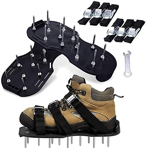 WYNDCM Zapatos de aireador de césped con Correas...